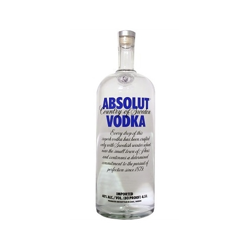 absolut 4 5 liter bottle. Black Bedroom Furniture Sets. Home Design Ideas